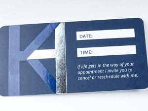 Business Card Back with Space for Appointment Setting